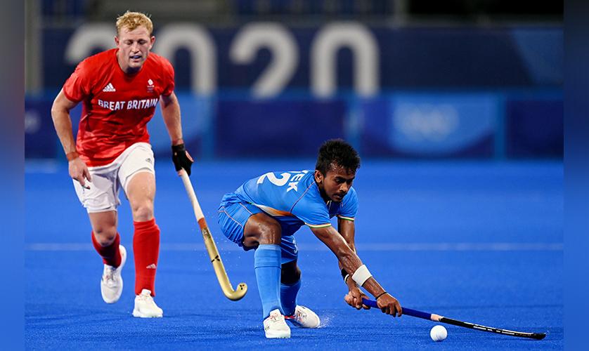 Indian Hockey Teamwork