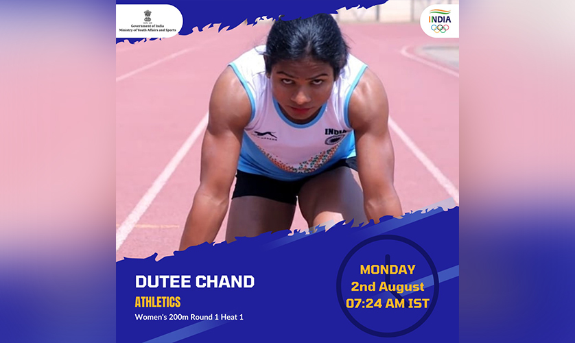 Dutee Chand, Athletics Women's 200m Round 1 Heat1
