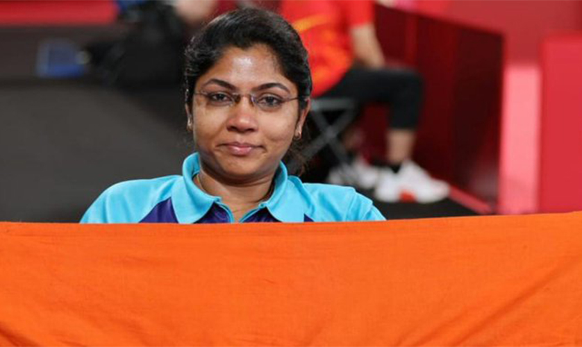 National's 1st silver medal in Para table tennis