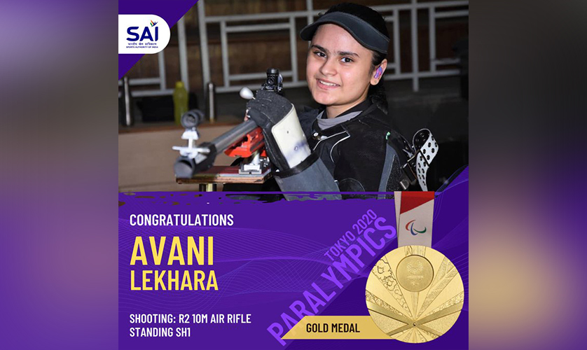 Avani Lekhara wins Gold medal in Tokyo 2020 Paralympic