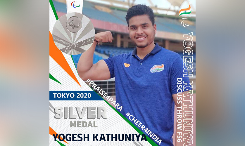 Yogesh wins Silver medal in Tokyo 2020 Paralympic