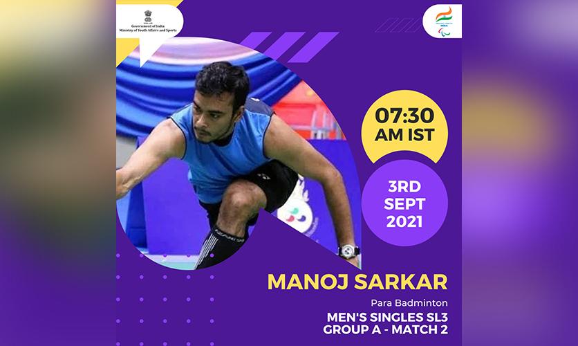 Manoj Sarkar, Para Badminton, 3 September, 2021