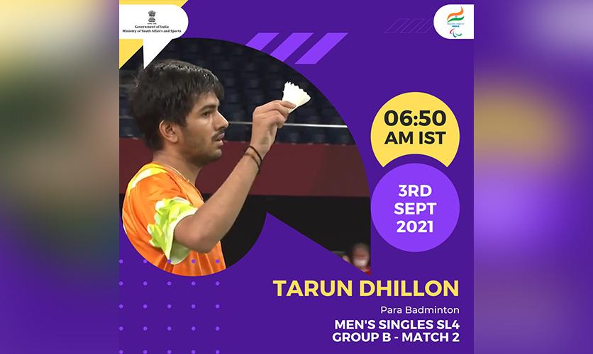 Tarun Dhillon, Para Badminton, 3 September, 2021