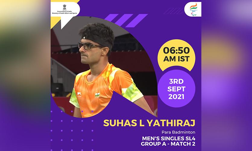 Suhas, Para Badminton, 3 September, 2021