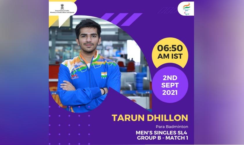 Tarun Dhillon, Para Badminton, 2 September, 2021