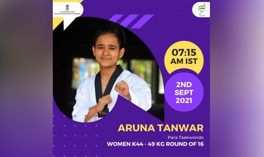 Aruna Tanwar, Para Taekwondo, 2 September, 2021