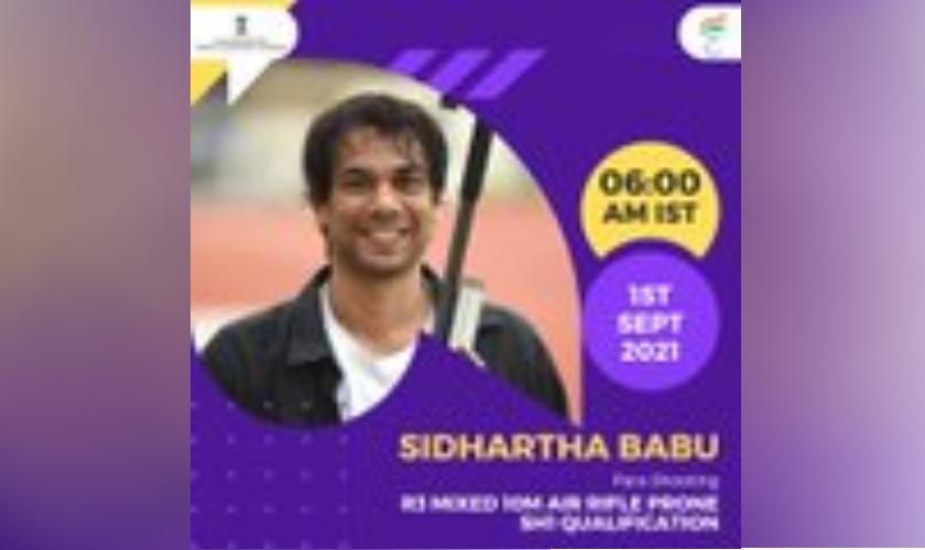 Sidhartha babu, Para shooting, 1 September, 2021